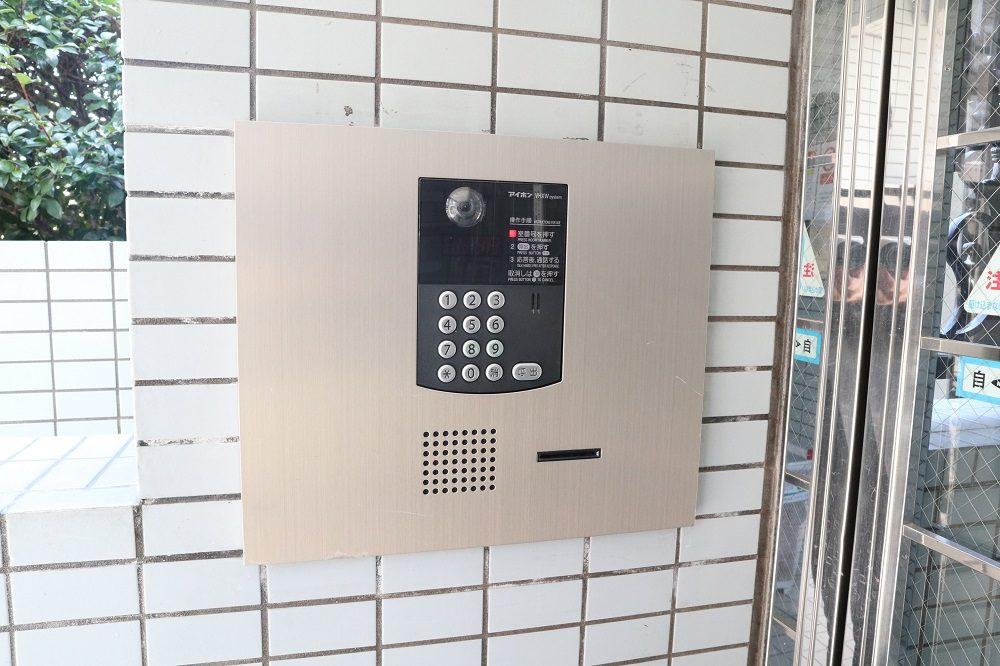 テレビカメラ付きオートロックインターホン